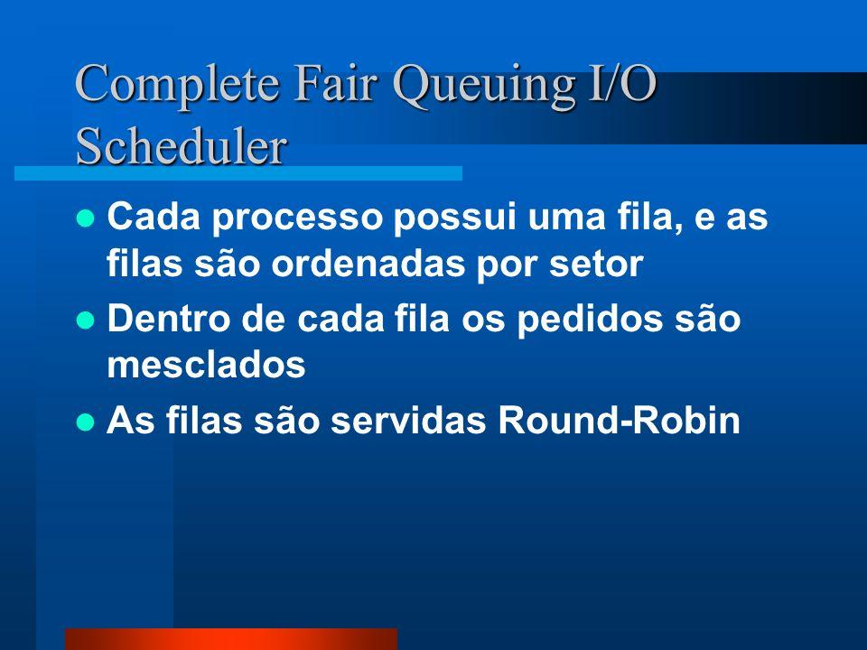 Complete Fair Queuing I/O Scheduler