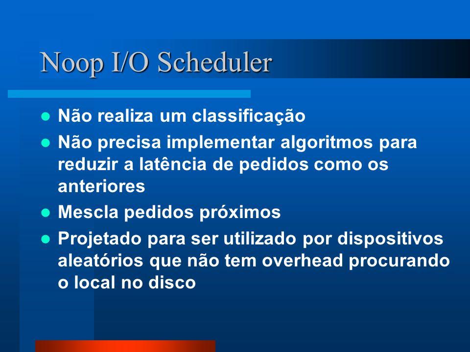 Noop I/O Scheduler Não realiza um classificação