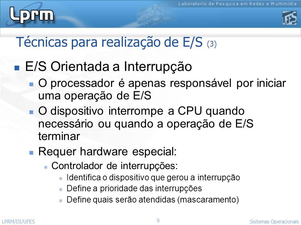 Técnicas para realização de E/S (3)