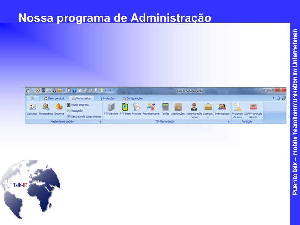 Nossa programa de Administração