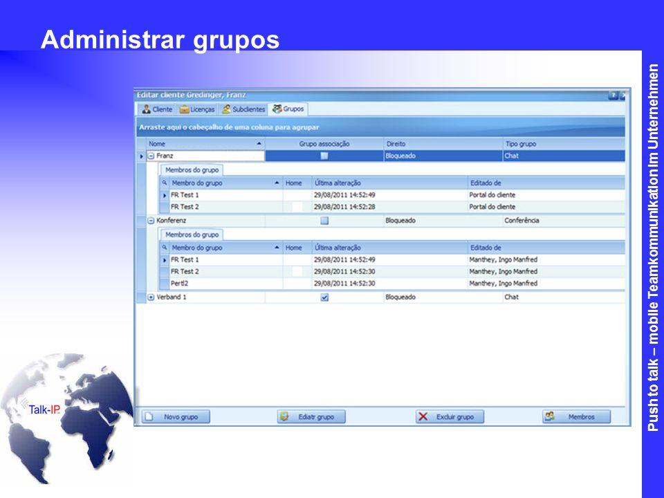 Administrar grupos