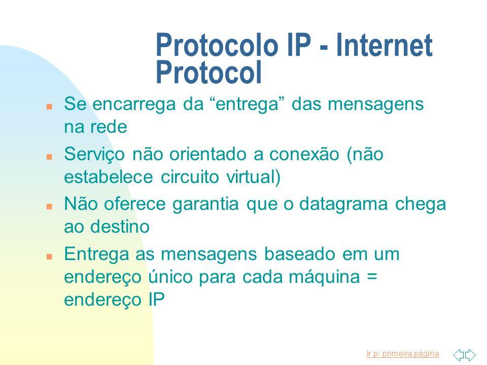 Protocolo IP - Internet Protocol