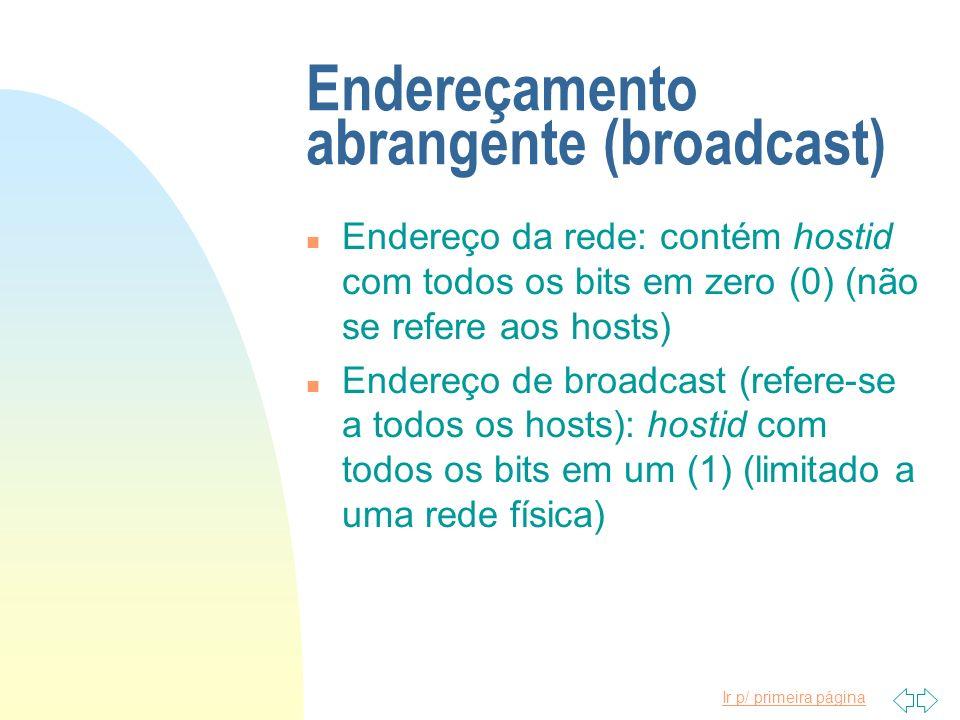 Endereçamento abrangente (broadcast)