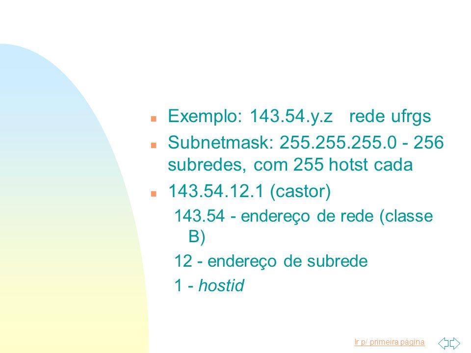 Subnetmask: 255.255.255.0 - 256 subredes, com 255 hotst cada