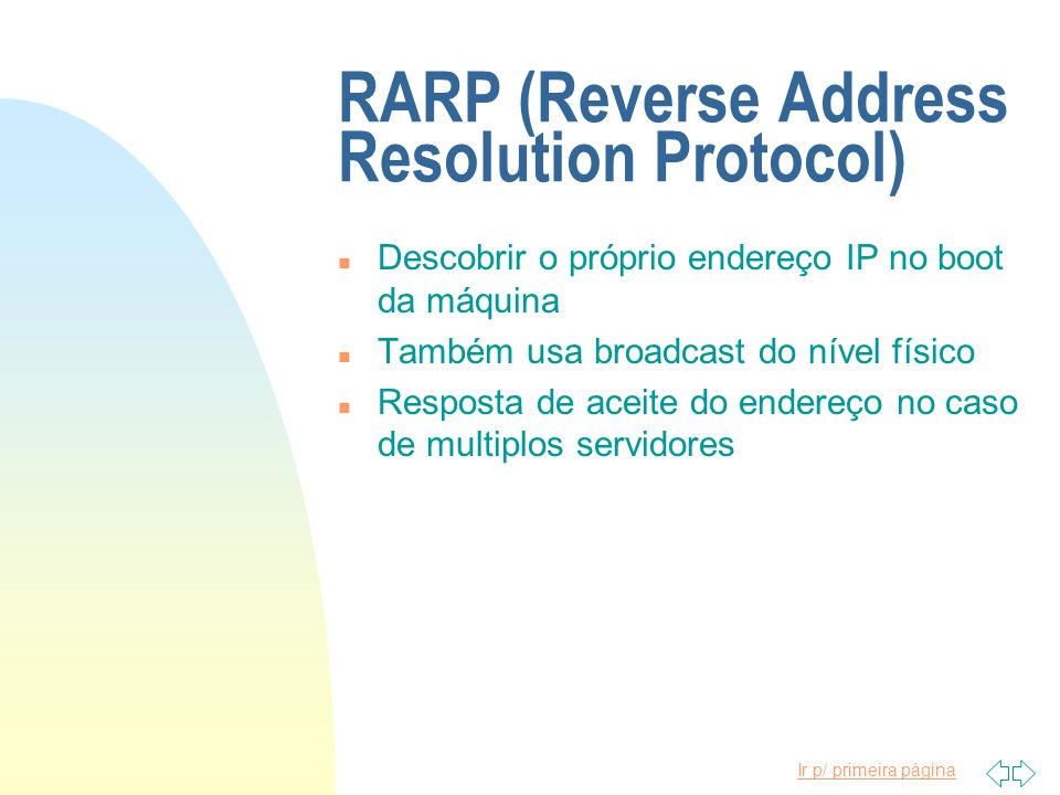 RARP (Reverse Address Resolution Protocol)