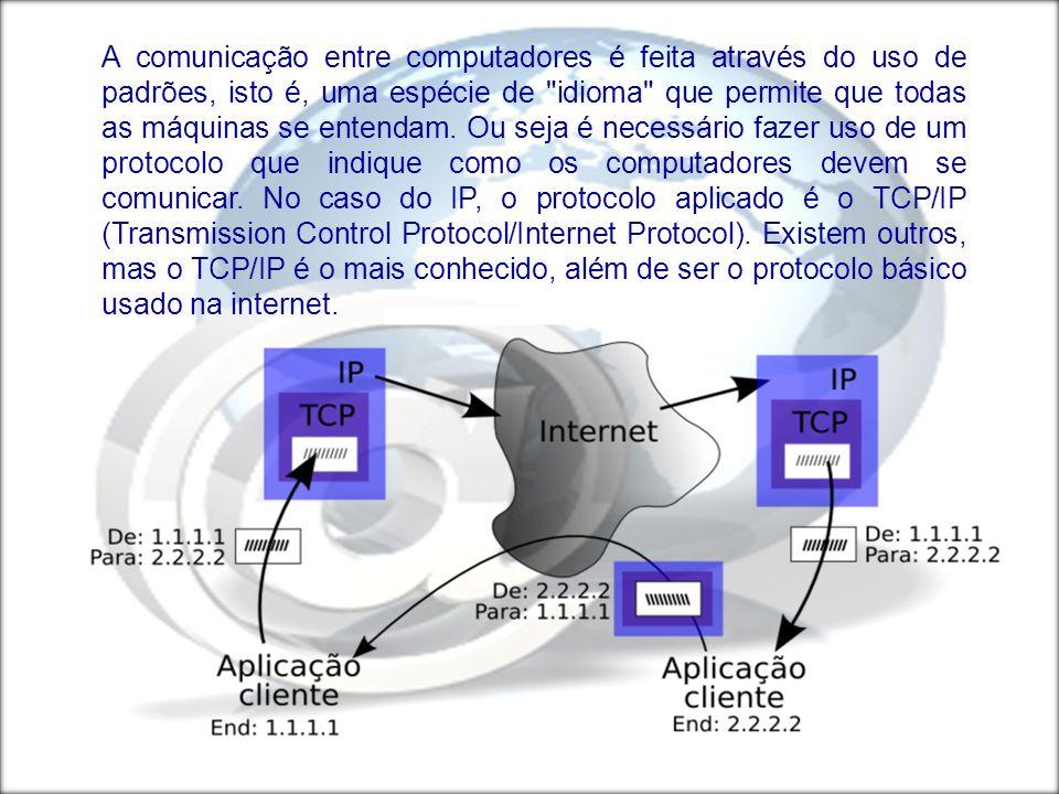 A comunicação entre computadores é feita através do uso de padrões, isto é, uma espécie de idioma que permite que todas as máquinas se entendam.