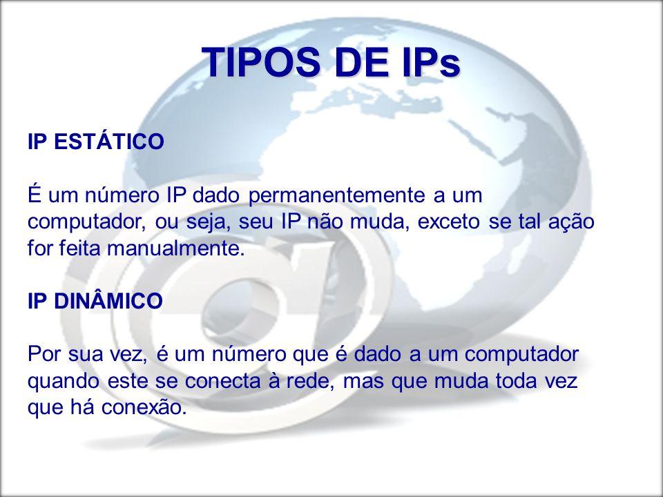 TIPOS DE IPs IP ESTÁTICO