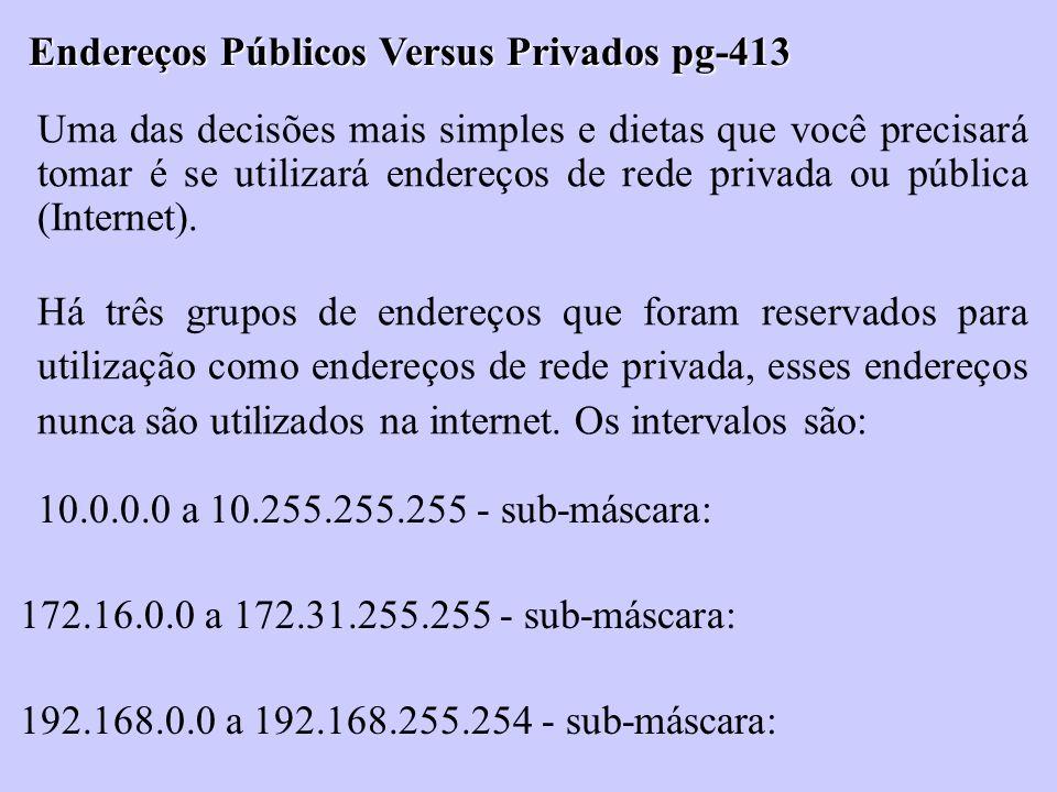 Endereços Públicos Versus Privados pg-413