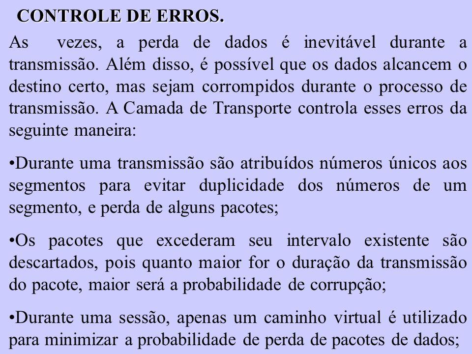 CONTROLE DE ERROS.