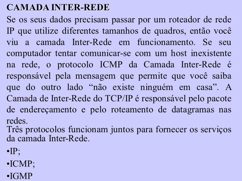 CAMADA INTER-REDE