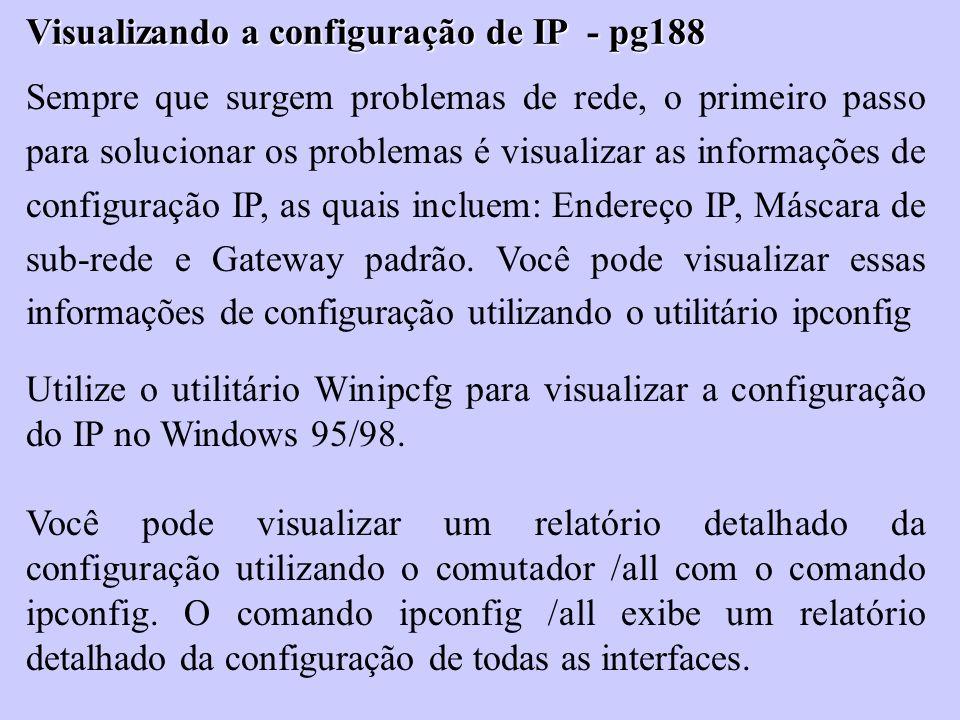 Visualizando a configuração de IP - pg188