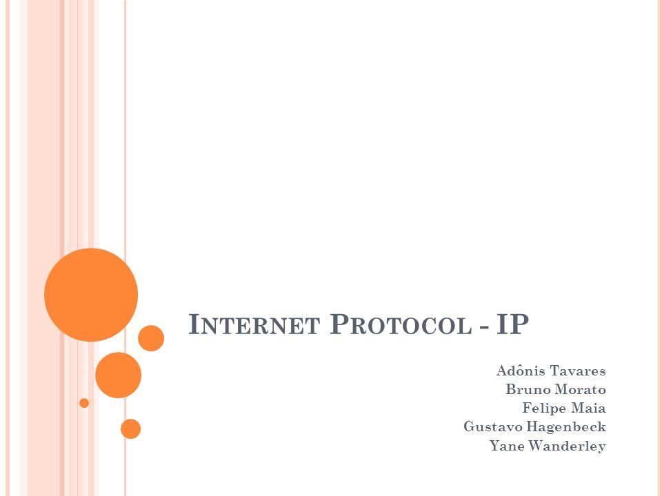 Internet Protocol - IP Adônis Tavares Bruno Morato Felipe Maia