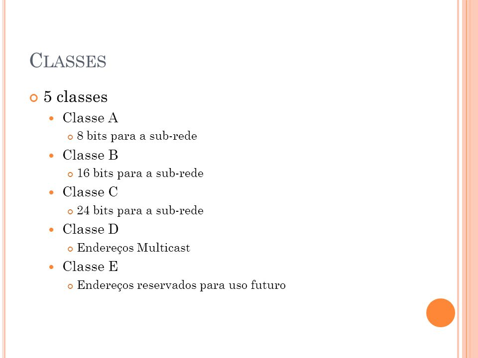 Classes 5 classes Classe A Classe B Classe C Classe D Classe E