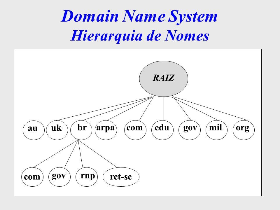 Domain Name System Hierarquia de Nomes