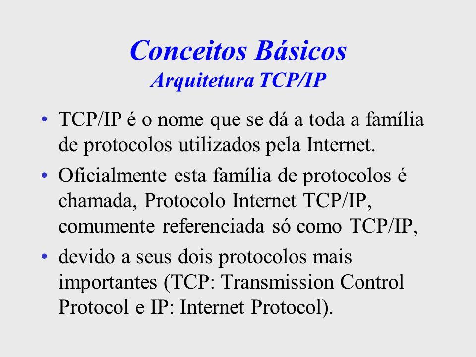 Conceitos Básicos Arquitetura TCP/IP