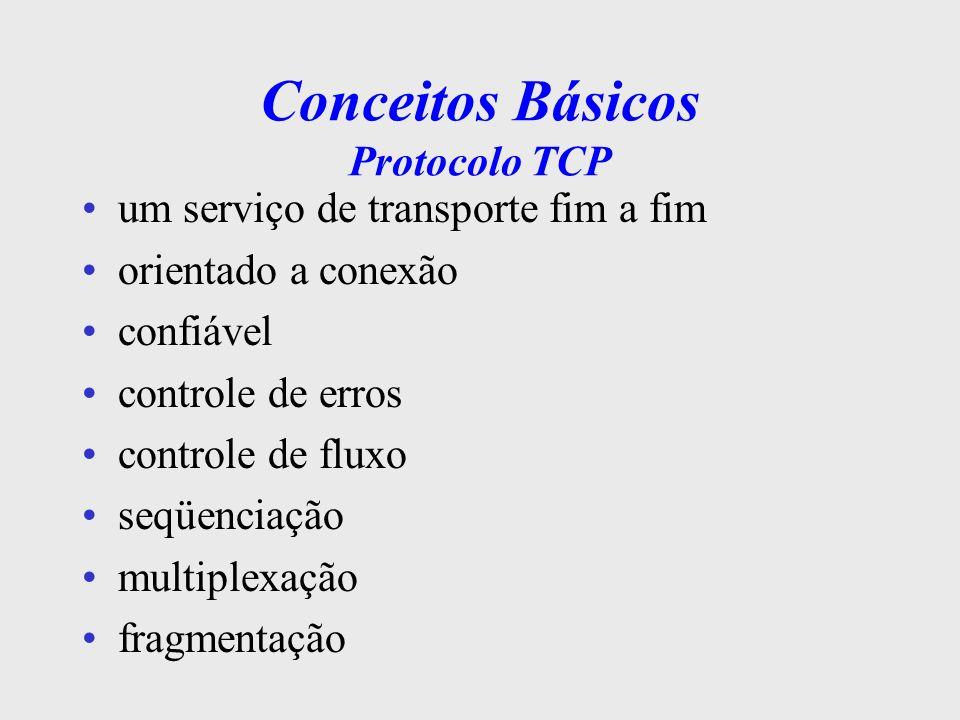 Conceitos Básicos Protocolo TCP