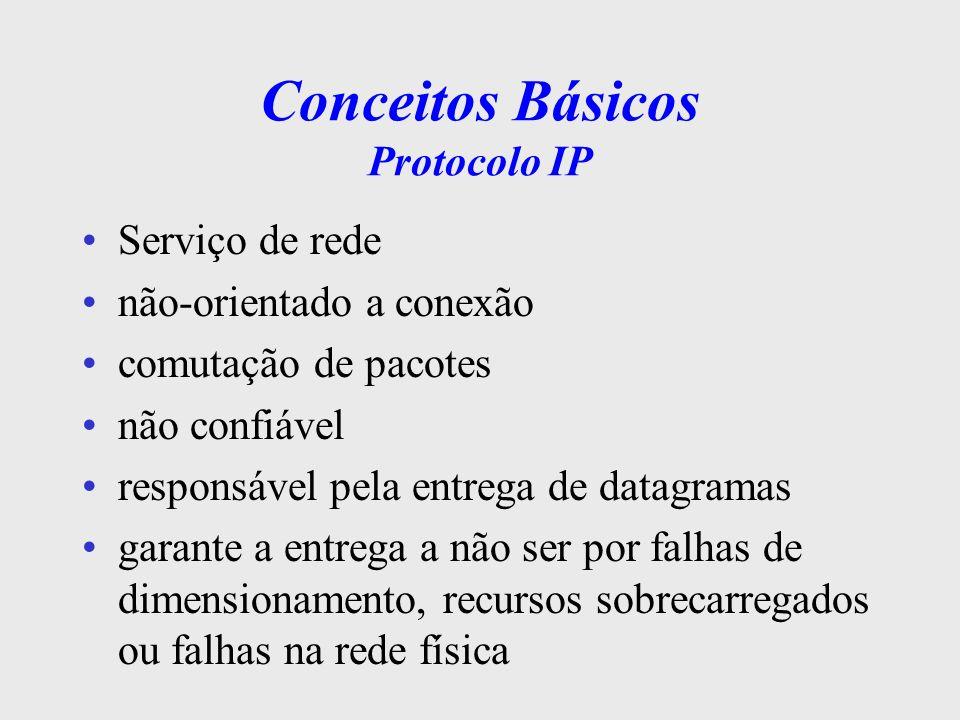 Conceitos Básicos Protocolo IP