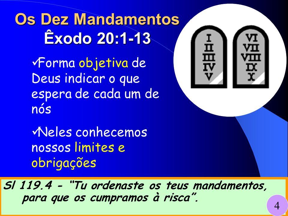 Os Dez Mandamentos Êxodo 20:1-13