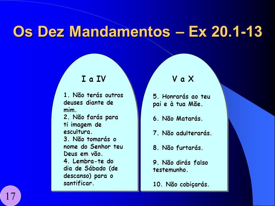 Os Dez Mandamentos – Ex 20.1-13