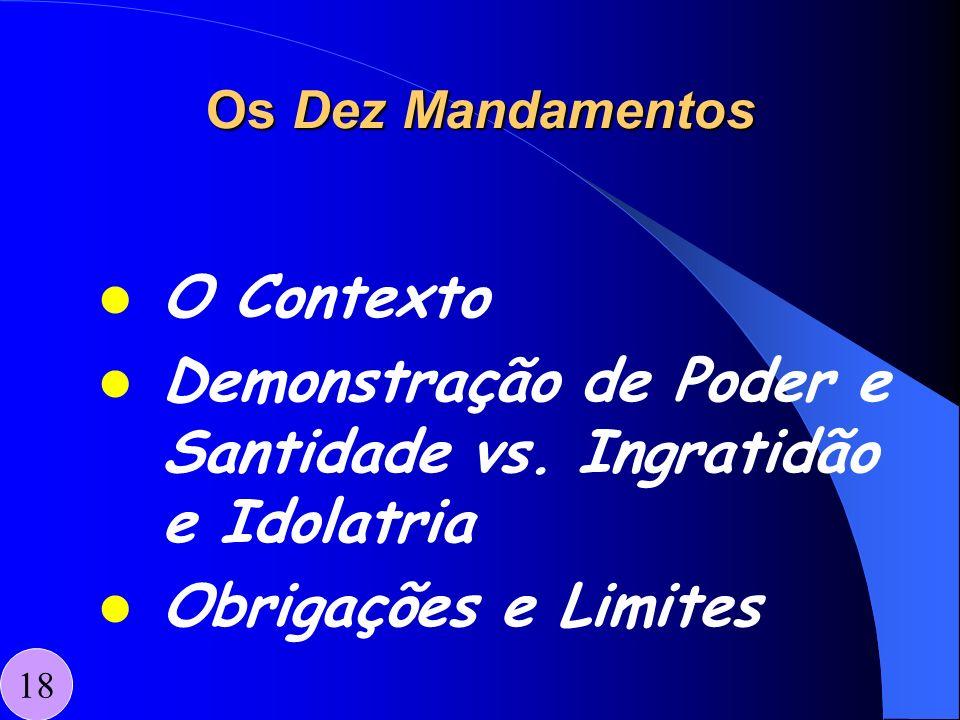 Demonstração de Poder e Santidade vs. Ingratidão e Idolatria