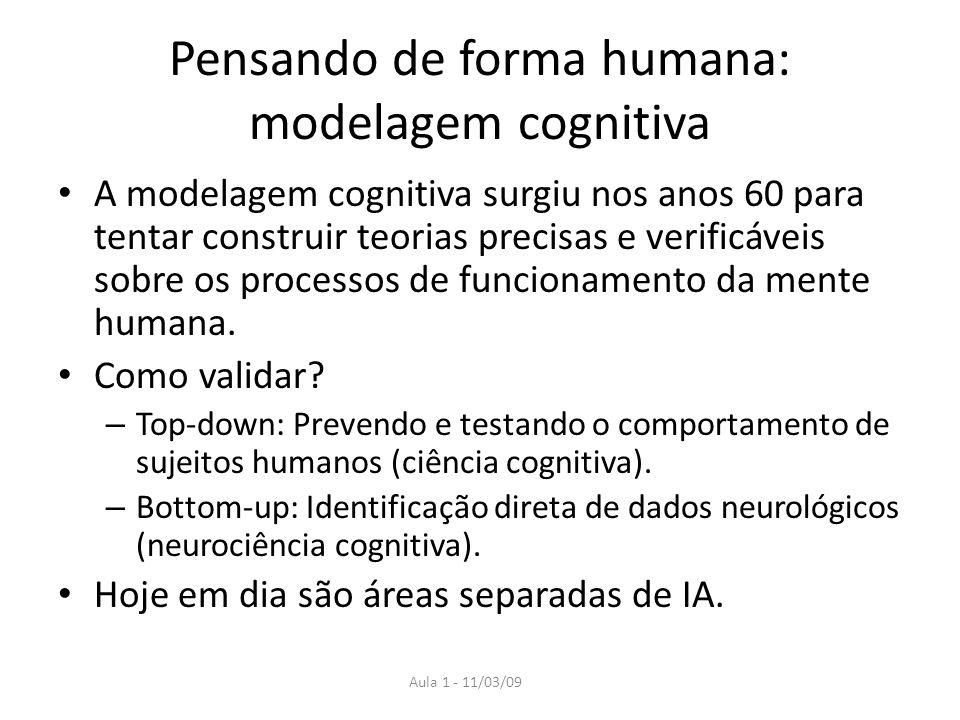 Pensando de forma humana: modelagem cognitiva