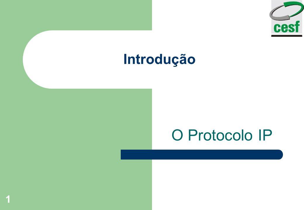 Introdução O Protocolo IP