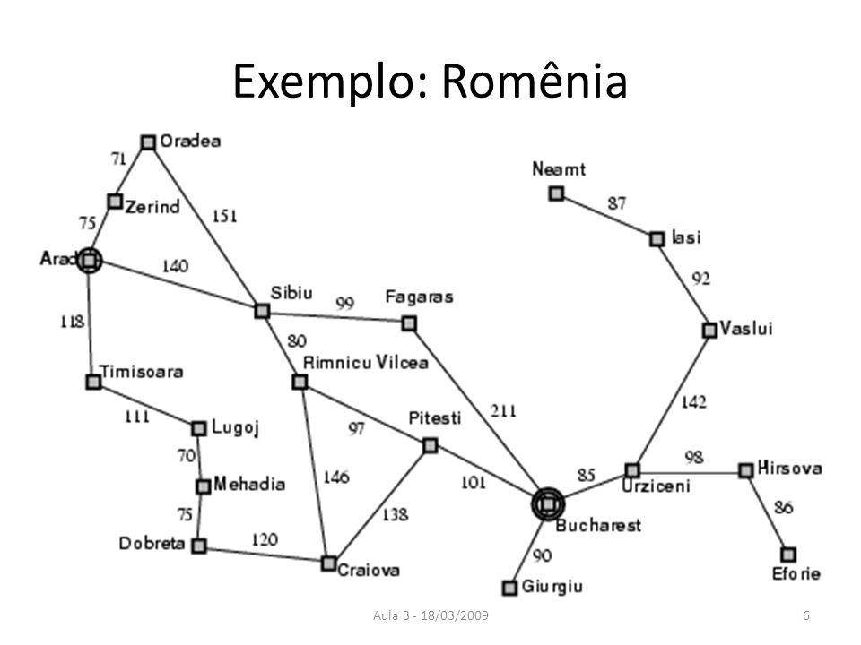 Exemplo: Romênia Aula 3 - 18/03/2009