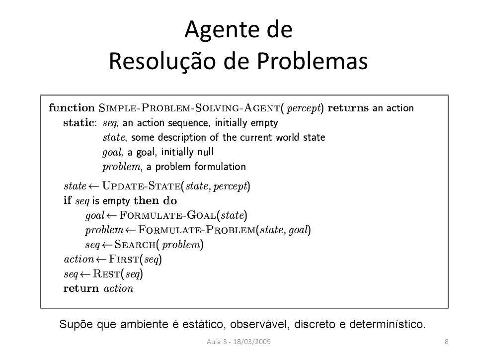 Agente de Resolução de Problemas