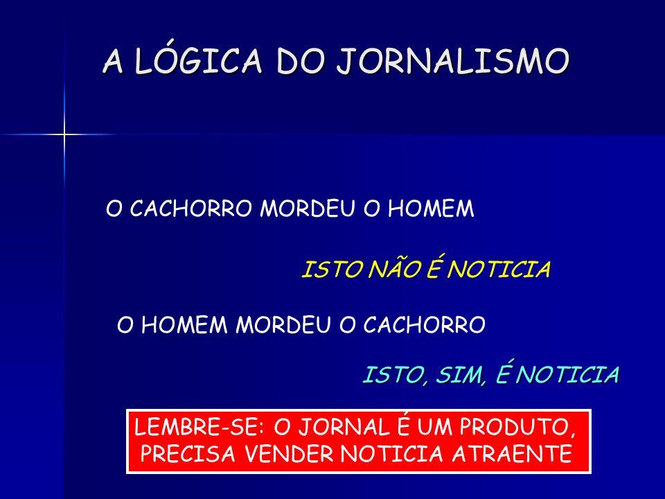A LÓGICA DO JORNALISMO O CACHORRO MORDEU O HOMEM ISTO NÃO É NOTICIA