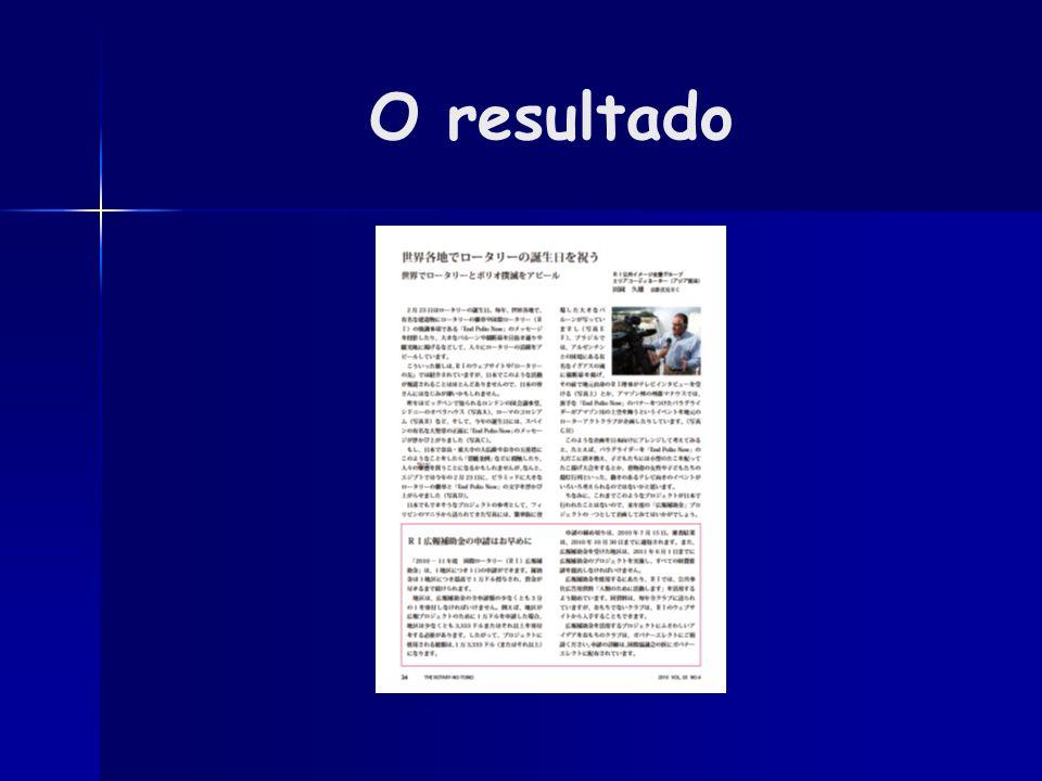 O resultado