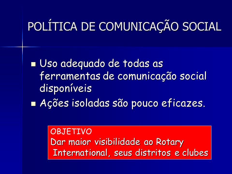 POLÍTICA DE COMUNICAÇÃO SOCIAL