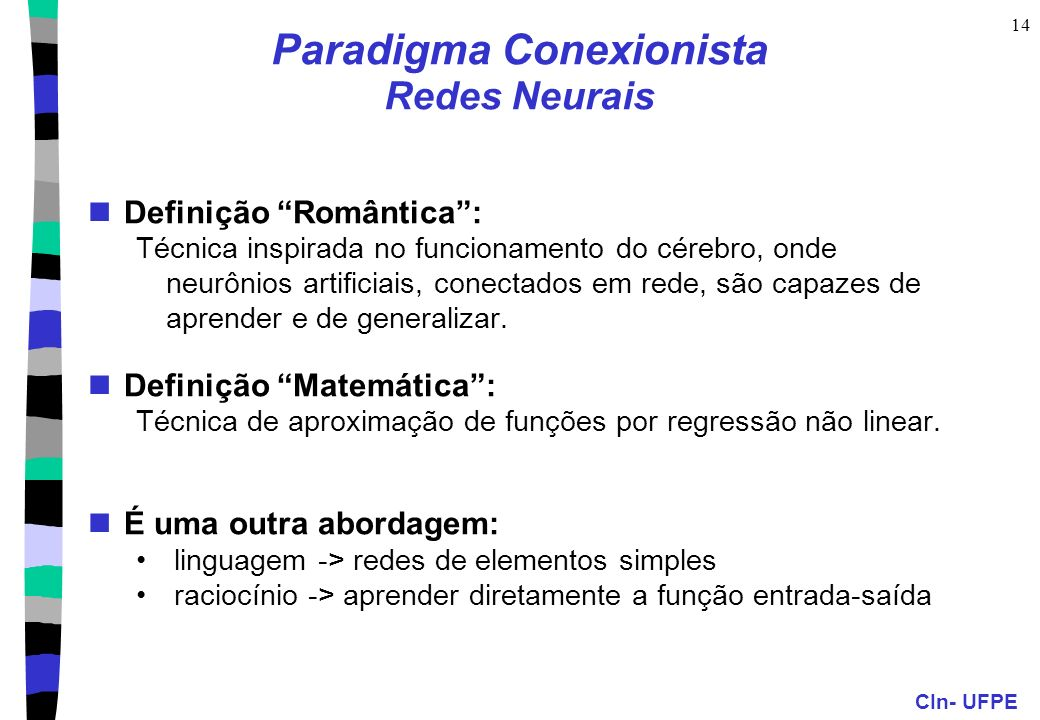 Paradigma Conexionista Redes Neurais