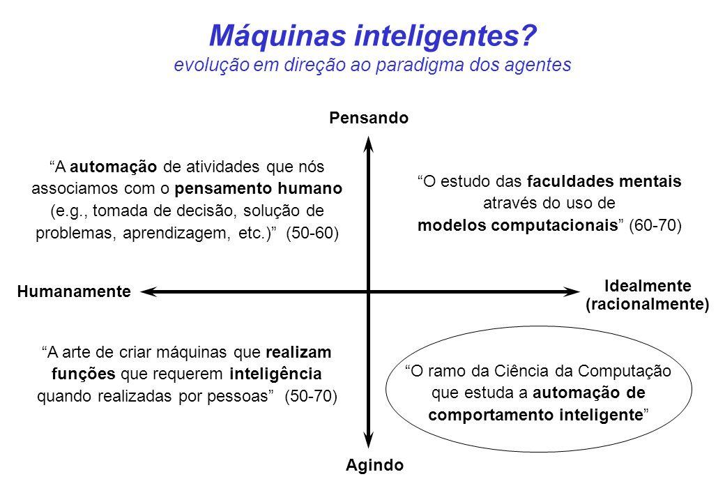 Máquinas inteligentes evolução em direção ao paradigma dos agentes