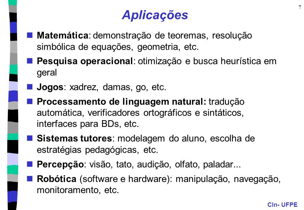 AplicaçõesMatemática: demonstração de teoremas, resolução simbólica de equações, geometria, etc.