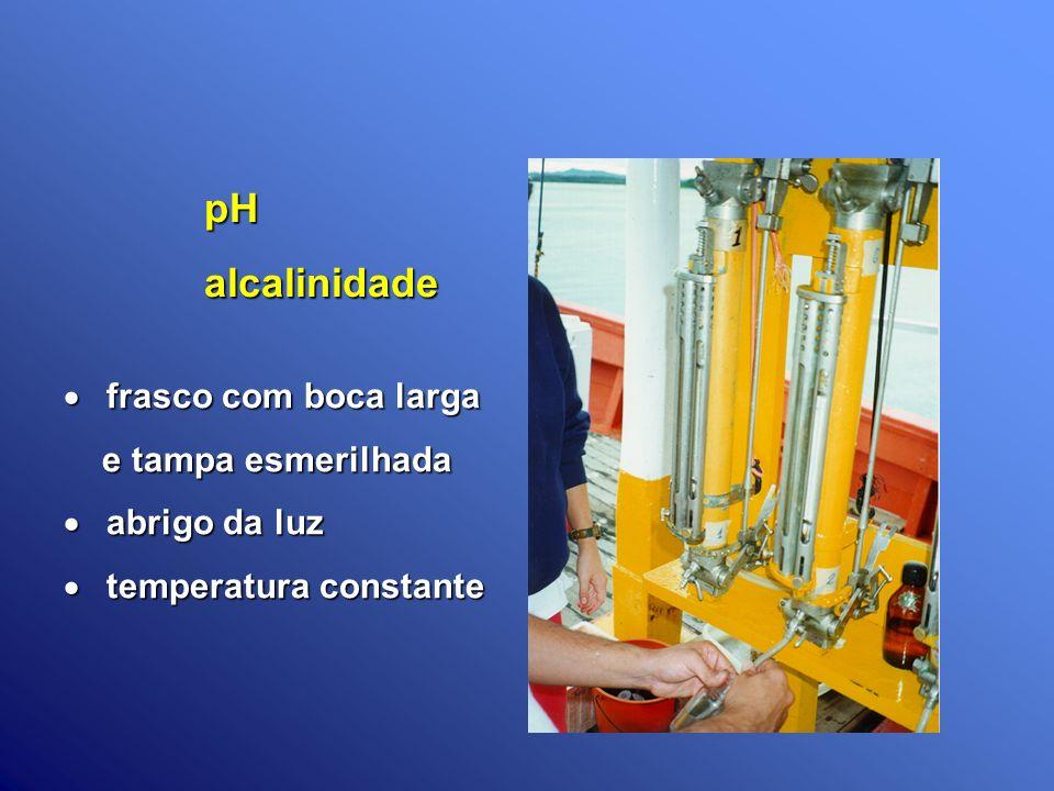 pH alcalinidade frasco com boca larga e tampa esmerilhada