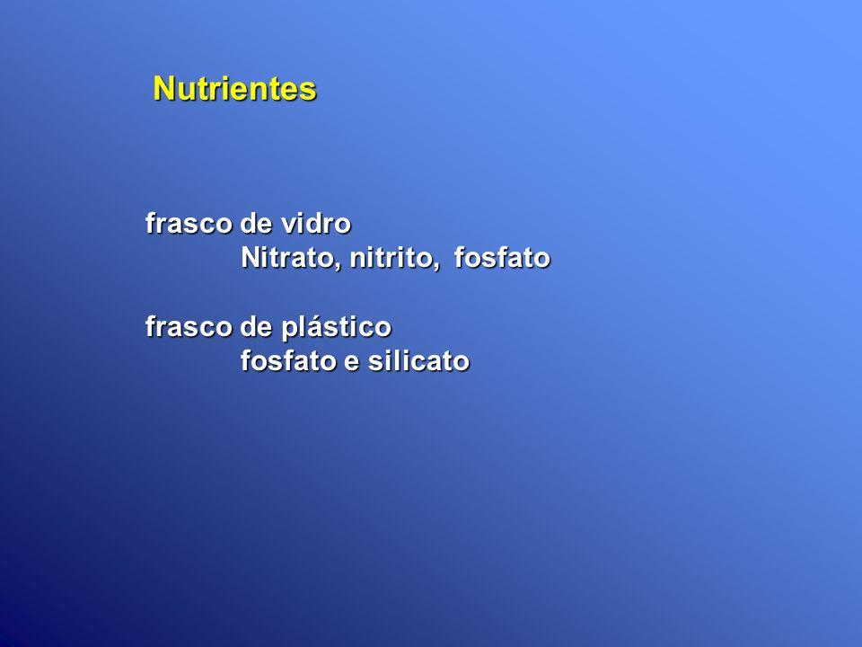 Nutrientes frasco de vidro Nitrato, nitrito, fosfato