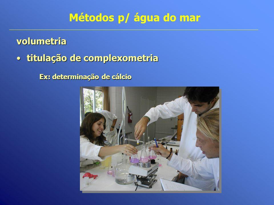 Ex: determinação de cálcio