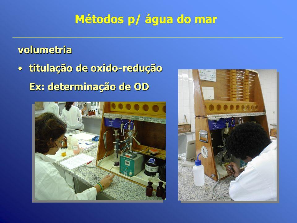 Métodos p/ água do mar volumetria titulação de oxido-redução