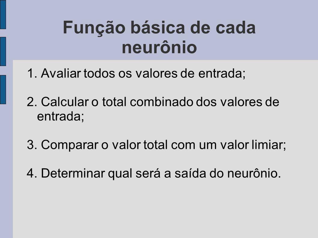 Função básica de cada neurônio