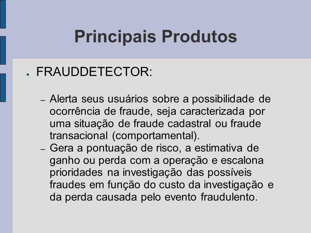 Principais Produtos FRAUDDETECTOR: