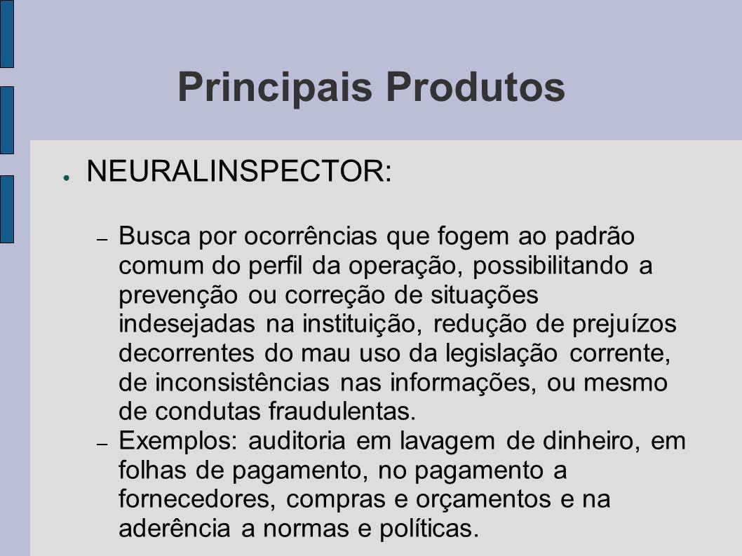 Principais Produtos NEURALINSPECTOR: