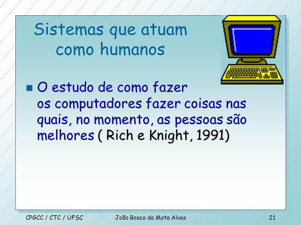 Sistemas que atuam como humanos