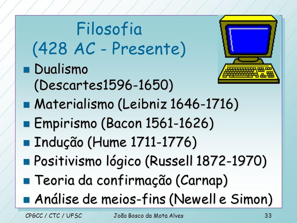 Filosofia (428 AC - Presente)