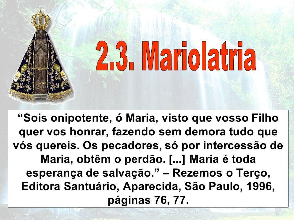 2.3. Mariolatria