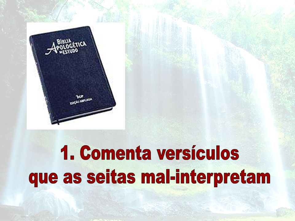 que as seitas mal-interpretam