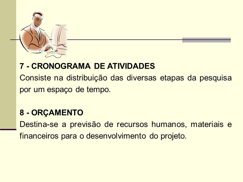 7 - CRONOGRAMA DE ATIVIDADES