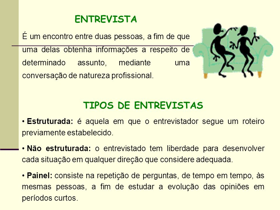 ENTREVISTA TIPOS DE ENTREVISTAS