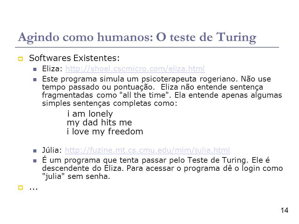 Agindo como humanos: O teste de Turing