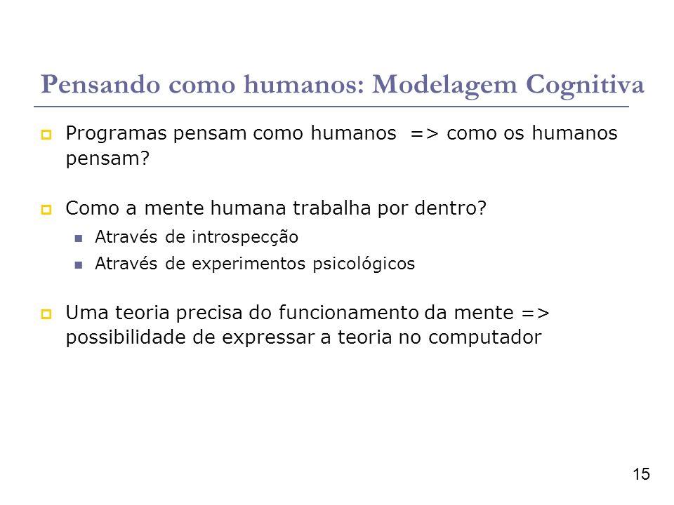 Pensando como humanos: Modelagem Cognitiva