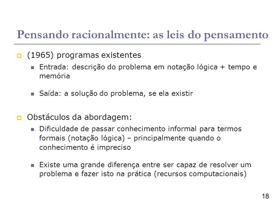 Pensando racionalmente: as leis do pensamento